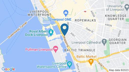 Ibis Liverpool Centre Albert Dock – Liverpool One Map
