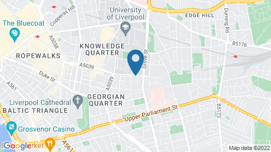 University of Liverpool, Vine Court Map
