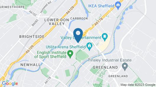 ibis budget Sheffield Arena Map