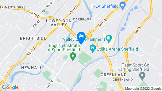 ibis budget Sheffield Arena Map