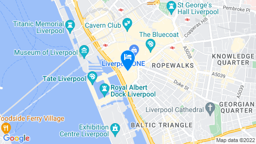 Hilton Liverpool City Centre Map