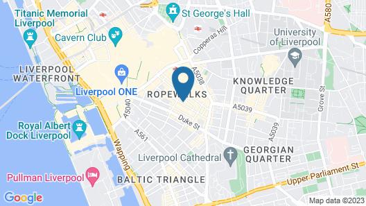 Arthouse Hotel Map