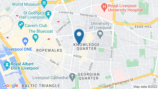 Liverpool Inn Hotel, Sure Hotel Collection by Best Western Map
