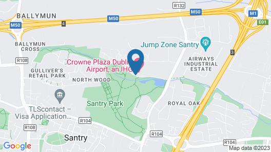 Crowne Plaza Dublin Airport Map