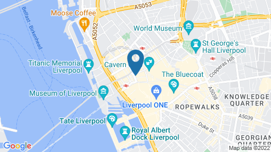 easyHotel Liverpool Map