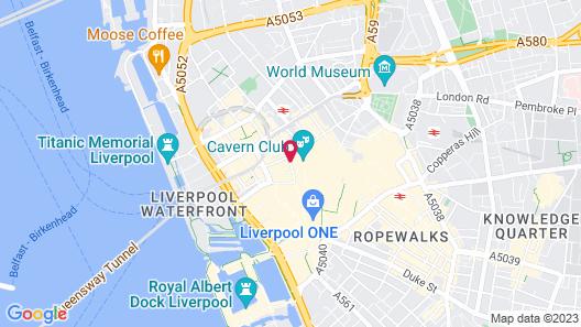 Aloft Liverpool Hotel by Marriott Map
