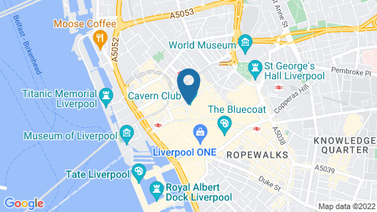 Euro Hostel Liverpool Map