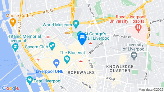 Holiday Inn Liverpool City Centre Map