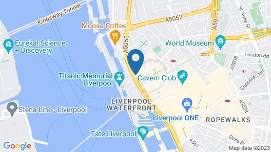 Mercure Liverpool Atlantic Tower Hotel Map