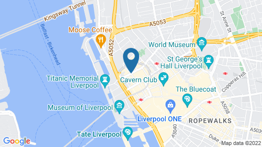 Hotel Indigo Liverpool City Centre Map
