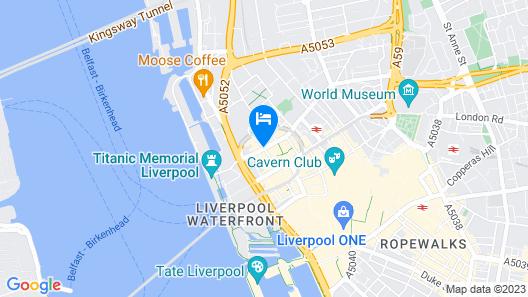 Hotel Indigo Liverpool City Centre Map
