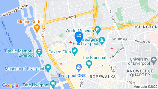 DoubleTree By Hilton Hotel & Spa Liverpool Map