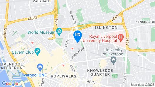 Trafalgar Warehouse Apartments Map