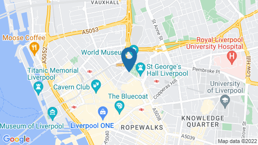 Liverpool Marriott Hotel City Centre Map