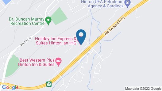 Holiday Inn Express Hotel & Suites Hinton, an IHG Hotel Map
