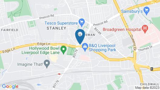 Liverpool Gateway B&B Map