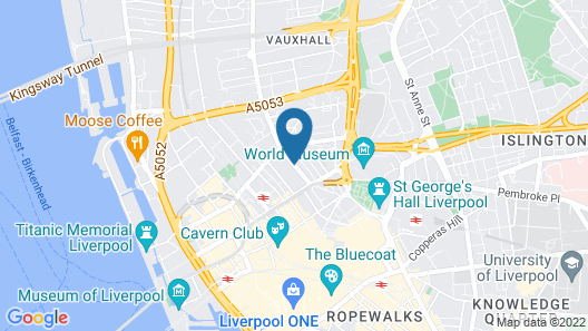 PREMIER SUITES Liverpool Map