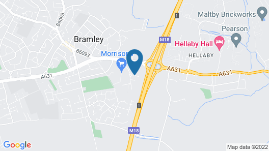 ibis Rotherham East – (M18 / M1) Map