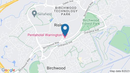 pentahotel Warrington Map