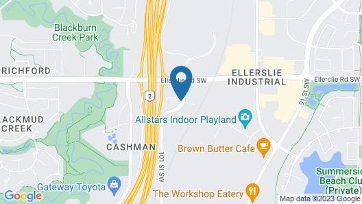 Best Western Plus South Edmonton Inn & Suites Map