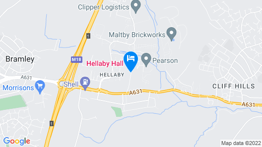 Hellaby Hall Hotel, BW Signature Collection Map