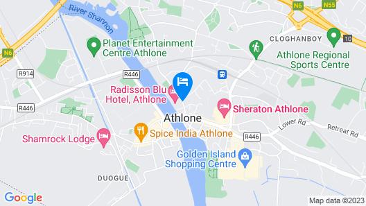 Radisson Blu Hotel, Athlone Map