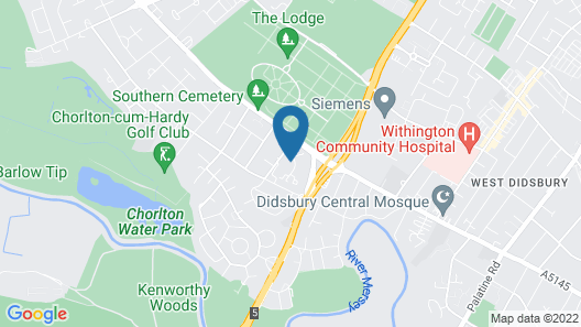 Premier Inn Manchester - West Didsbury Map