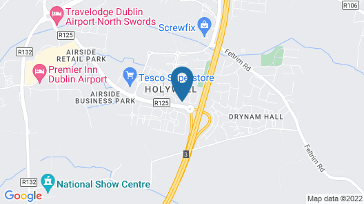 Holywell Way Swords in Swords Map