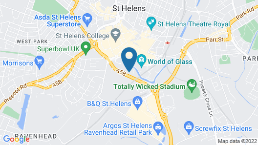 Mercure St Helens Map