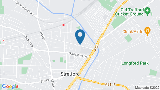 Old Trafford Guest House Map