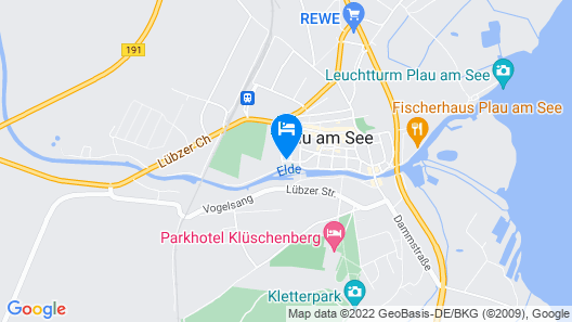 Lovely Apartment in Plau am See Germany Near Plauer Lake Map