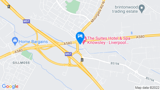 Holiday Inn Express Liverpool-Knowsley M57, Jct.4 Map