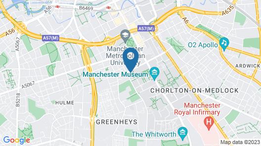 Hyatt House Manchester Map