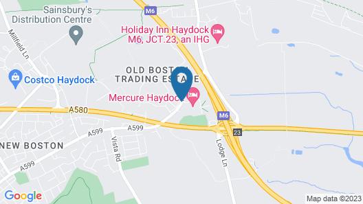 Mercure Haydock Hotel Map