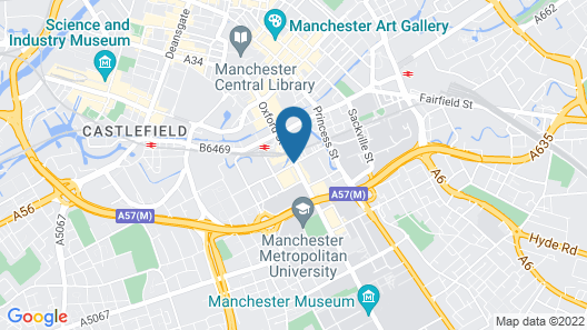 Holiday Inn Express Manchester CC - Oxford Road Map