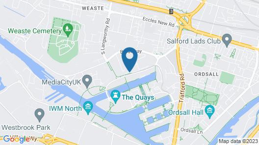 X1 Apartments Salford Quays Map