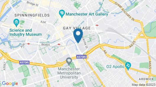 ibis Manchester Centre Princess Street Map