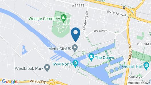 Holiday Inn Manchester-Media City UK Map