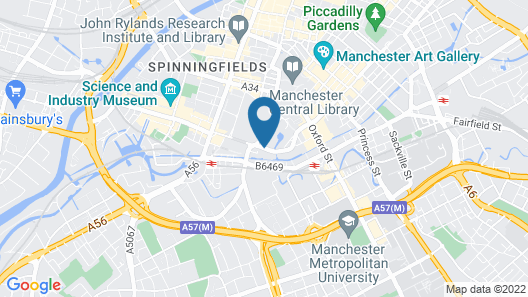 Jurys Inn Manchester City Centre Map