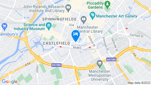 Jurys Inn Manchester City Centre Map