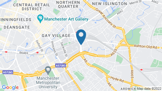 Macdonald Manchester Hotel & Spa Map