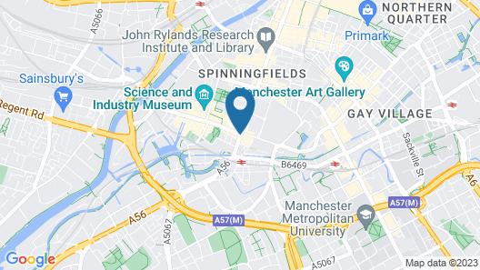 Hilton Manchester Deansgate Map