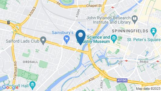 Campanile Manchester Map
