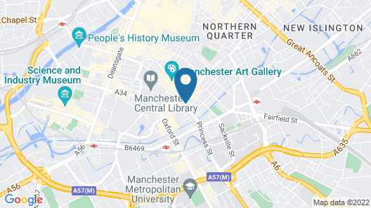 Townhouse Hotel Manchester Map