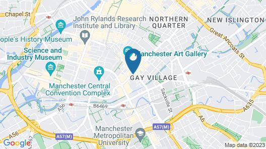 ibis Manchester Centre 96 Portland Street Map