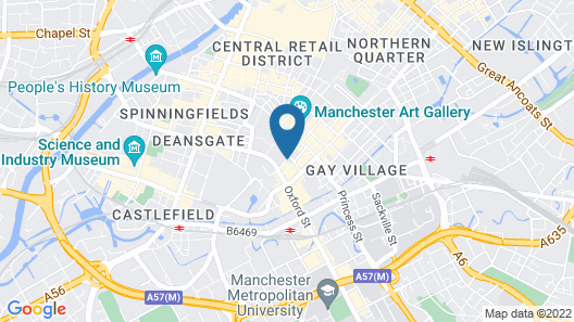 Premier Inn Manchester City Centre Portland Street Map