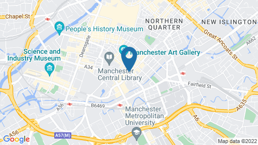 Roomzzz Manchester City Map