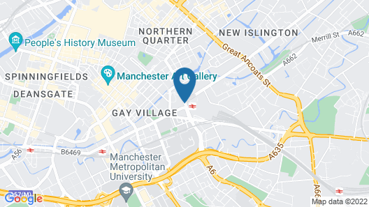 Motel One Manchester Piccadilly Map