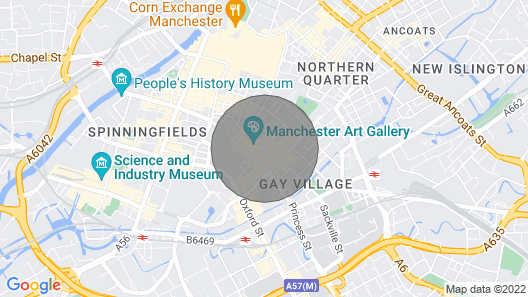 Comfortable 1 Bedroom Apartment in Central Manchester Map