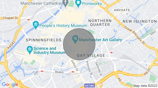 Stylish 2 Bedroom Flat in Manchester City Centre Map
